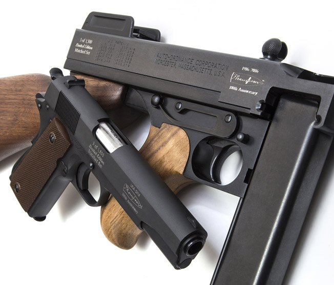 c161e01af4e5e Auto-Ordnance is proud to honor the man and the legacy of the Tommy Gun  with the introduction of the commemorative 100th Anniversary matched set  edition of ...